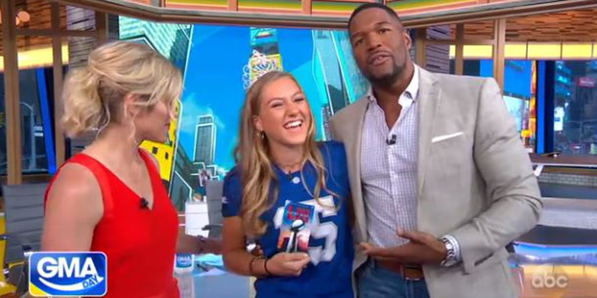 GMA Day gives kicking queen Kaylee Foster tickets to the Super Bowl
