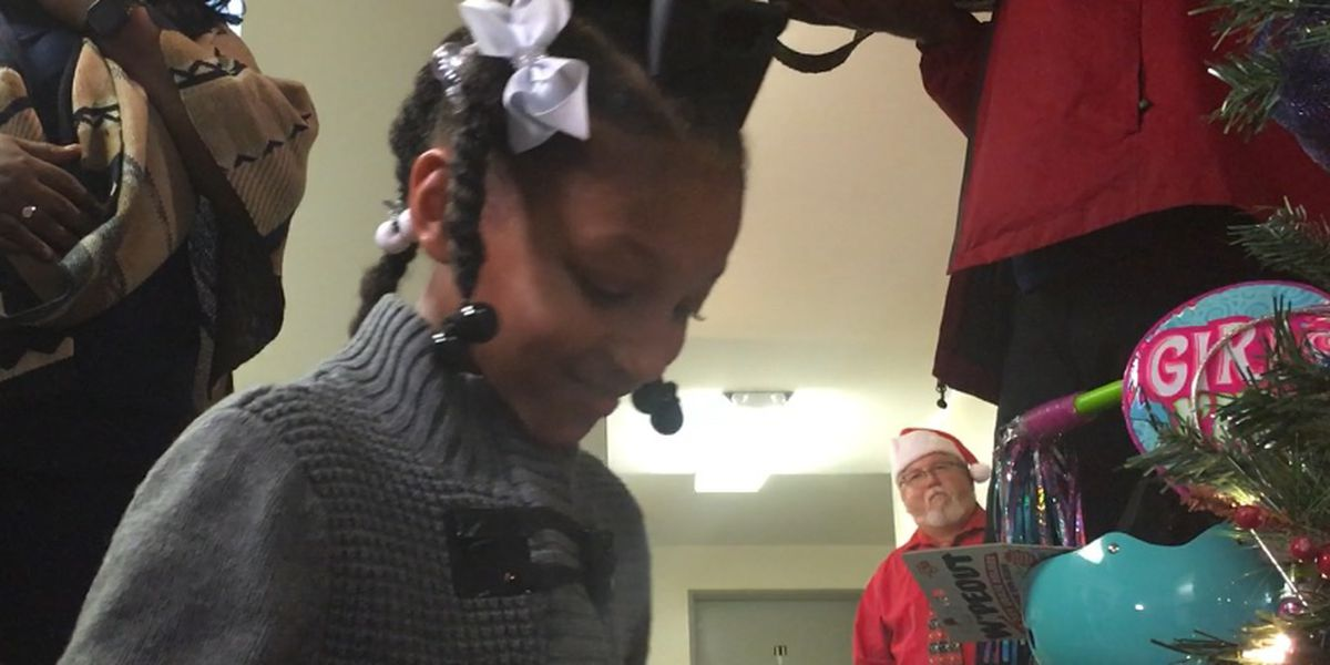 Hinds County District Attorney's office gives Christmas party to crime victim