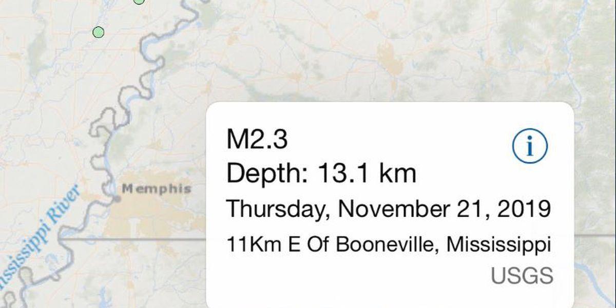 2.3 magnitude earthquake shakes North Mississippi