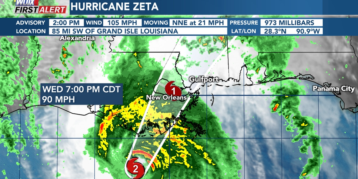 Zeta to bring damaging winds and storm surge to South Mississippi