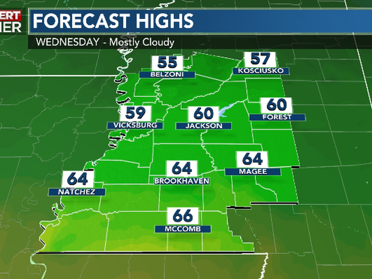 First Alert Forecast: 50s North, 60s South amid clouds for Inauguration Day