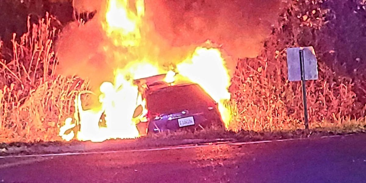 Chase ends in fiery crash after man tries to flee Vicksburg police