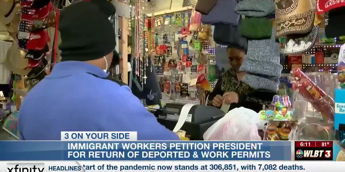 Immigrant workers petition the president to rollback Trump policies and return the deported