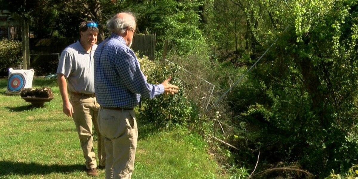 White Oak Creek eroding north Jackson backyards, frustrating homeowners
