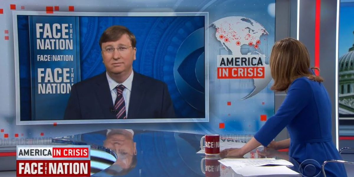 'Legally cast votes will be counted'; Gov. Tate Reeves talks schools opening, Mississippi voting procedures on Face the Nation