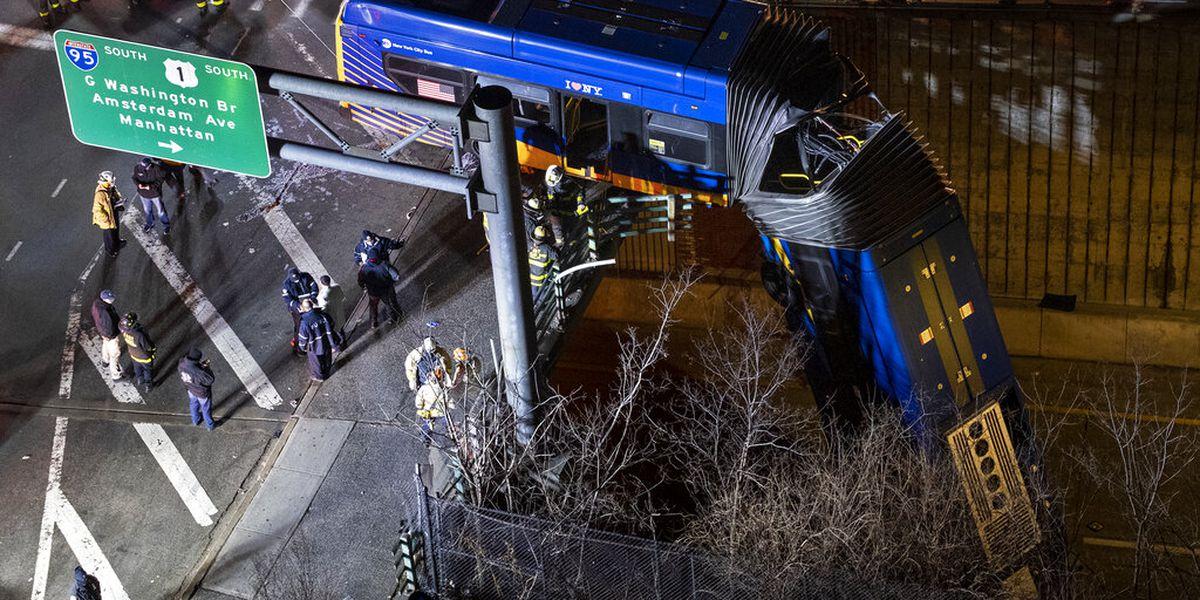 New York City bus dramatically plunges off bridge; driver refuses drug test