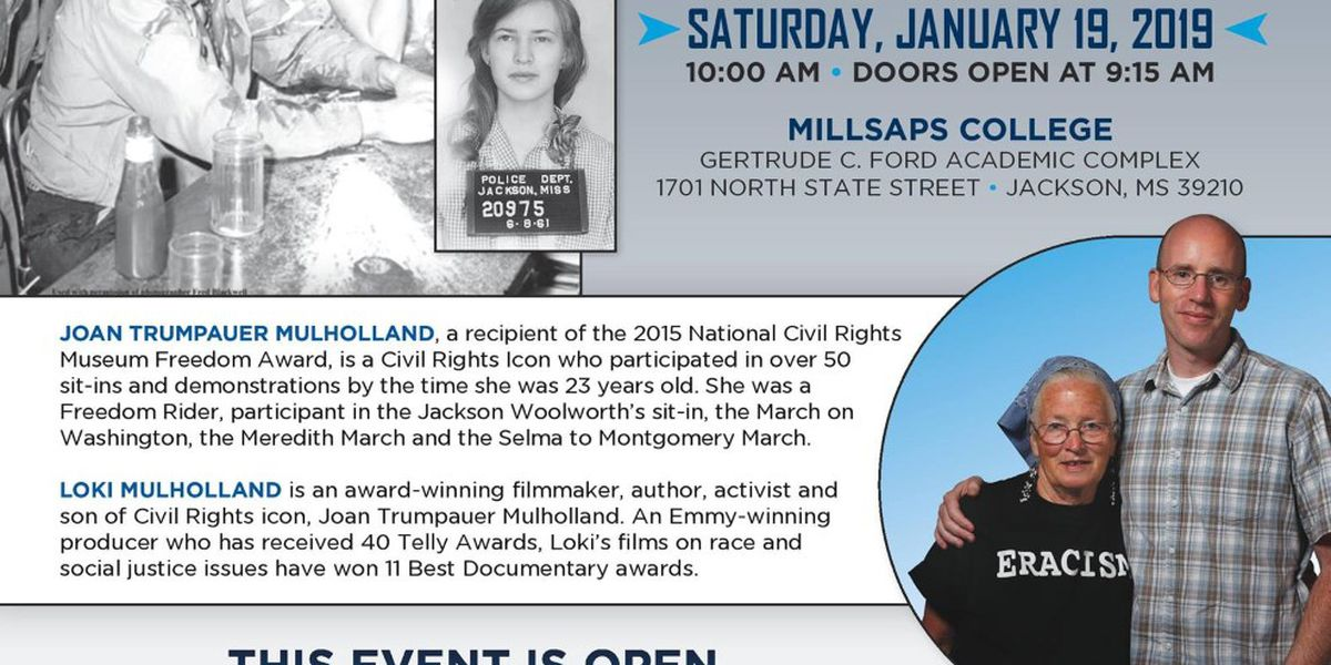 Freedom Rider in the historic 'Woolworth Sit-In' to visit Millsaps