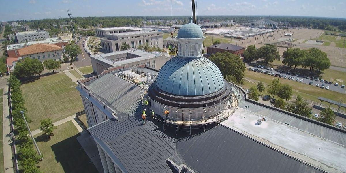 Old Capitol Museum repairs underway