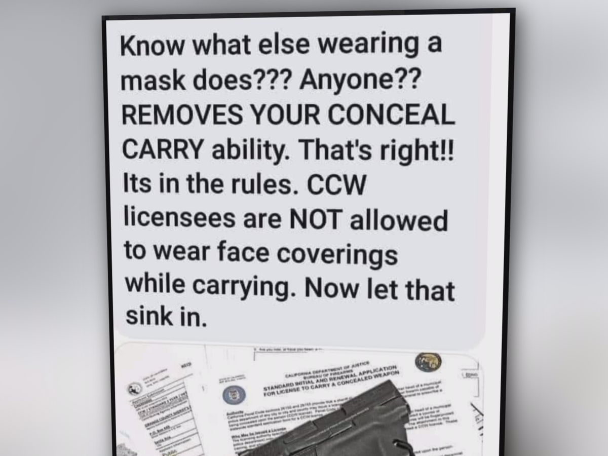 In Mississippi, wearing a mask while carrying concealed isn't against state law