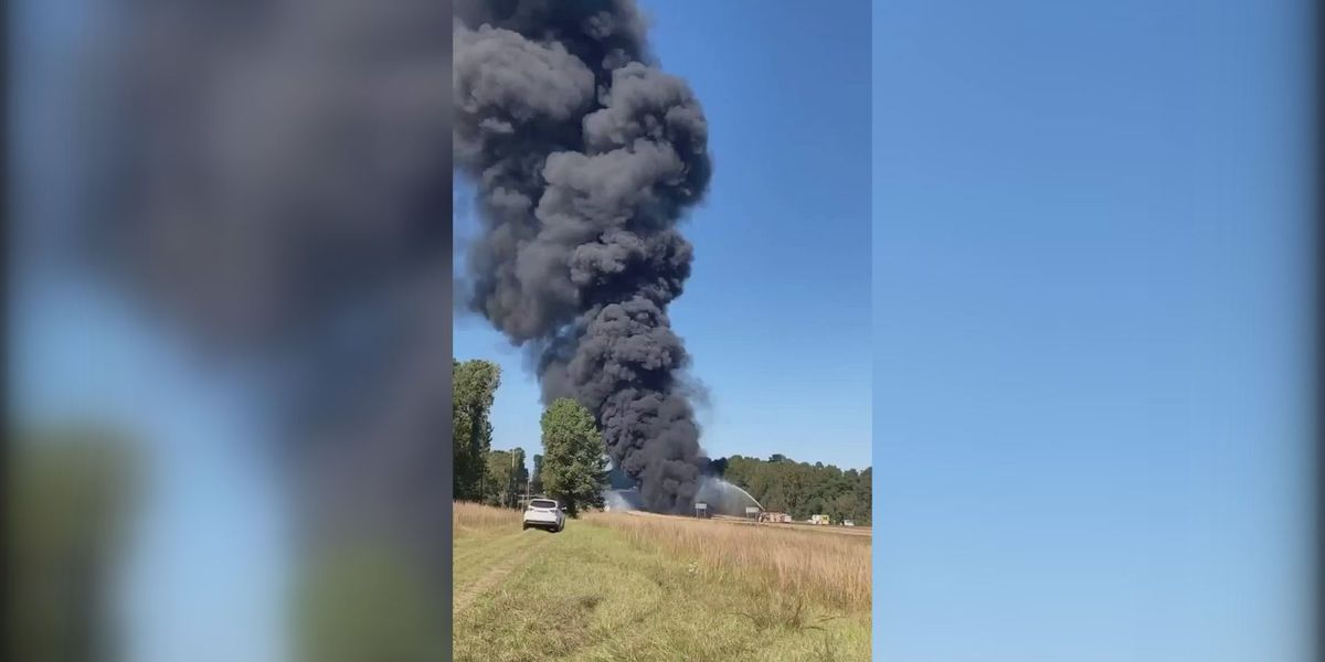 Vehicle fire on Highway 49 in Covington County