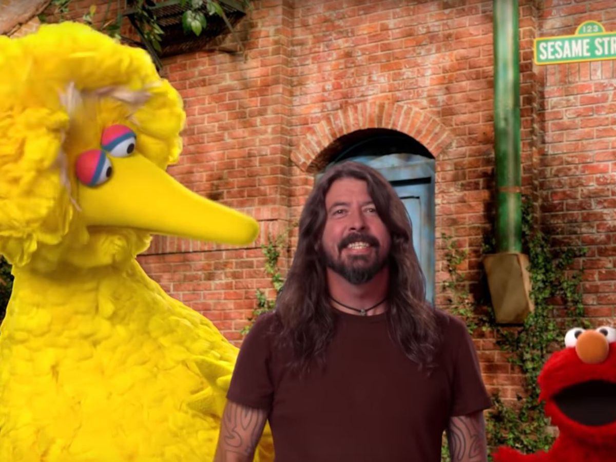 Dave Grohl rocks it on Sesame Street for show's 50th season