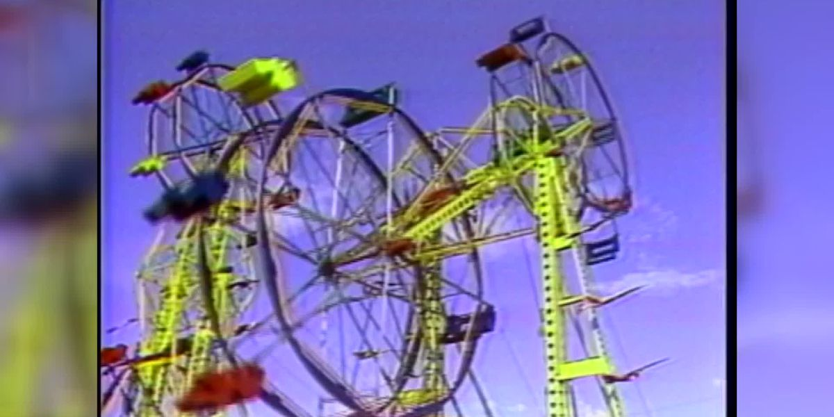 Double Ferris Wheel at Mississippi State Fair - 1980s