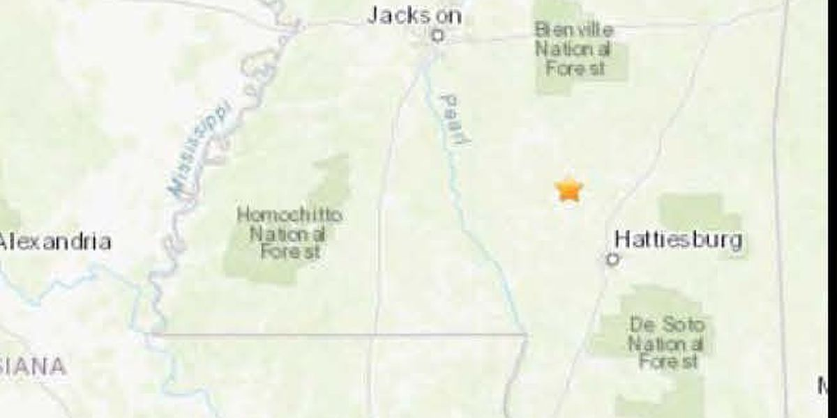 2.1 magnitude earthquake reported in Collins, Miss.