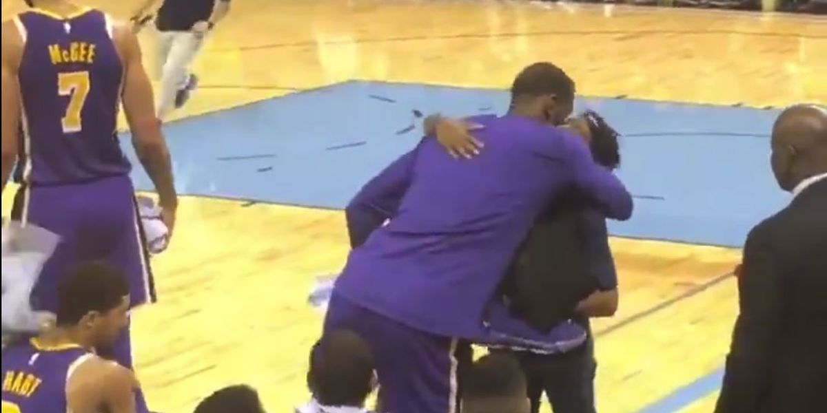 WATCH: LeBron James gifts Memphis woman his shoes during game against Grizzlies