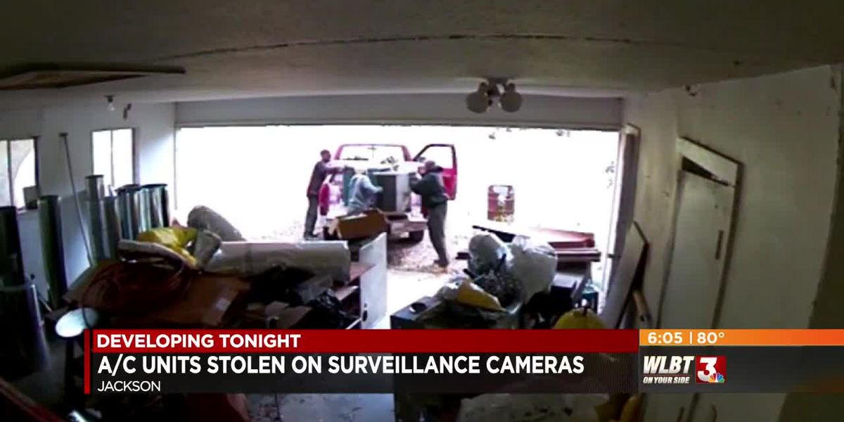VIDEO: Metal thieves steal A/C units