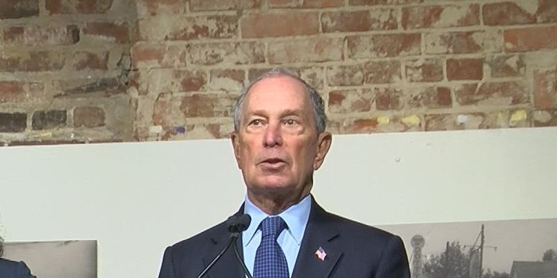 Presidential candidate Mike Bloomberg makes campaign stop in Mississippi