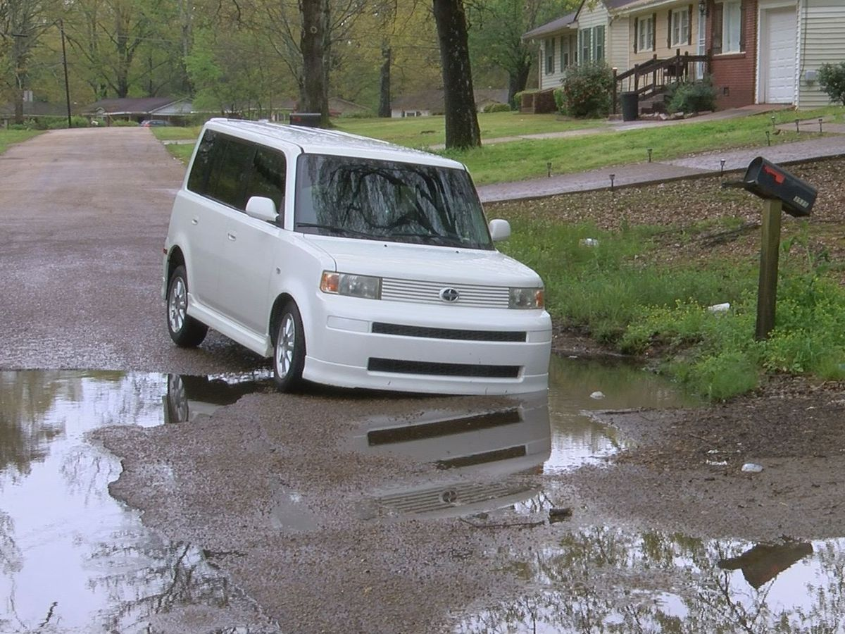 Jackson resident demanding solution after his vehicle gets stuck in water-filled pothole
