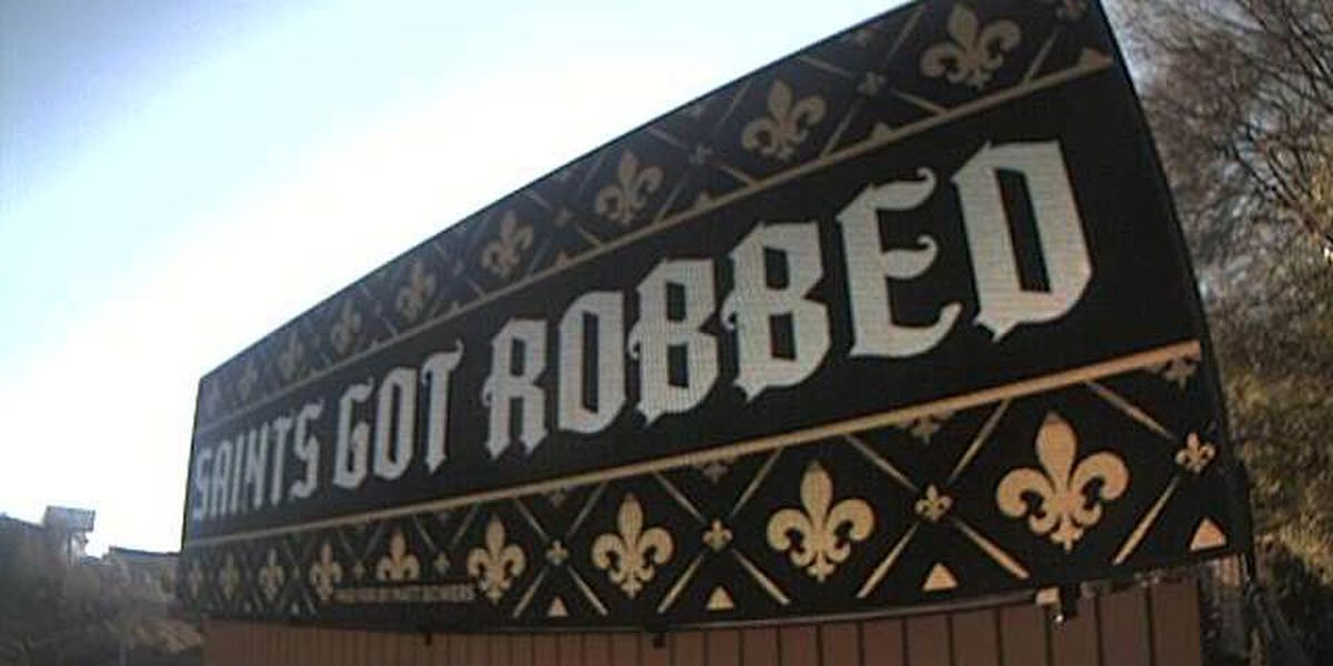 'Saints got robbed' billboards go live in downtown Atlanta