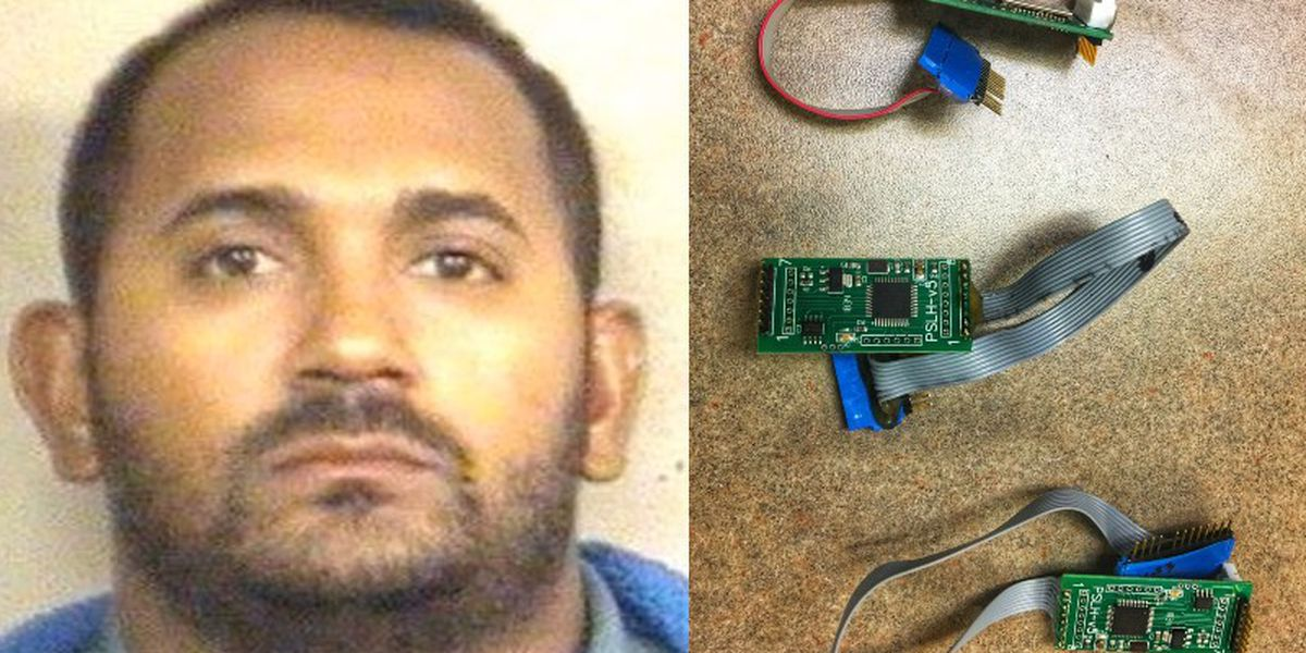 Man arrested for putting skimmers on gas pumps