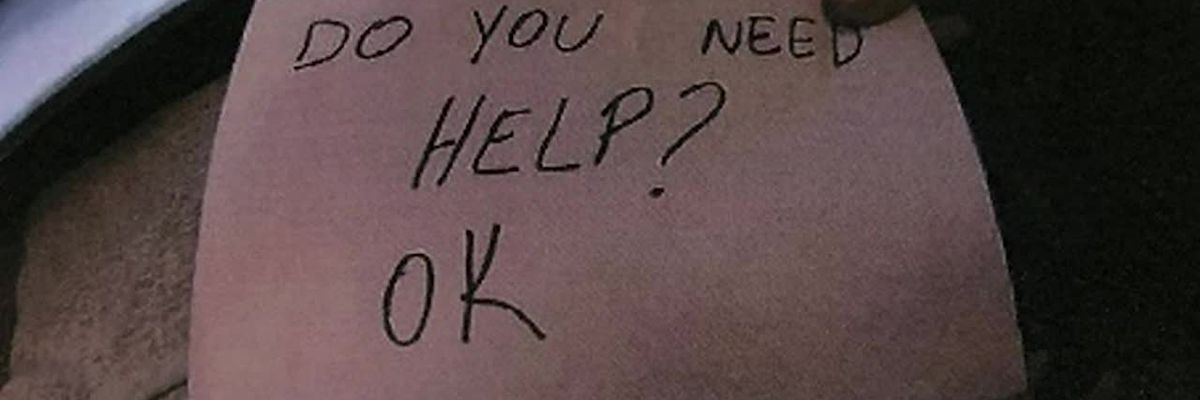 Waitress spots boy with bruises, intervenes with a quick note