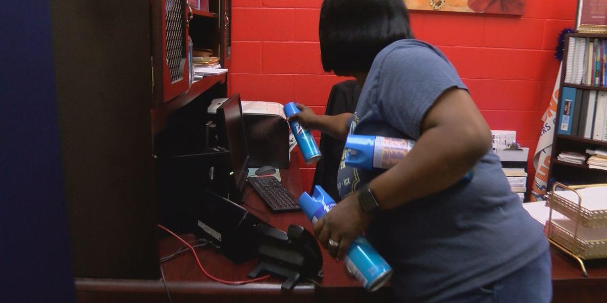 Cleaning crews spray down Canton Public Schools ahead of COVID-19