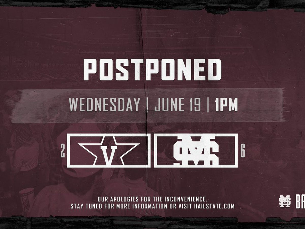 Rain postpones Mississippi State's College World Series match up with Vanderbilt