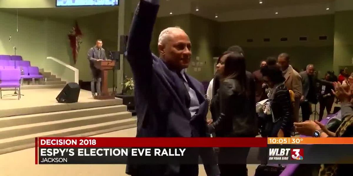 VIDEO: Mike Espy holds final rally on election eve
