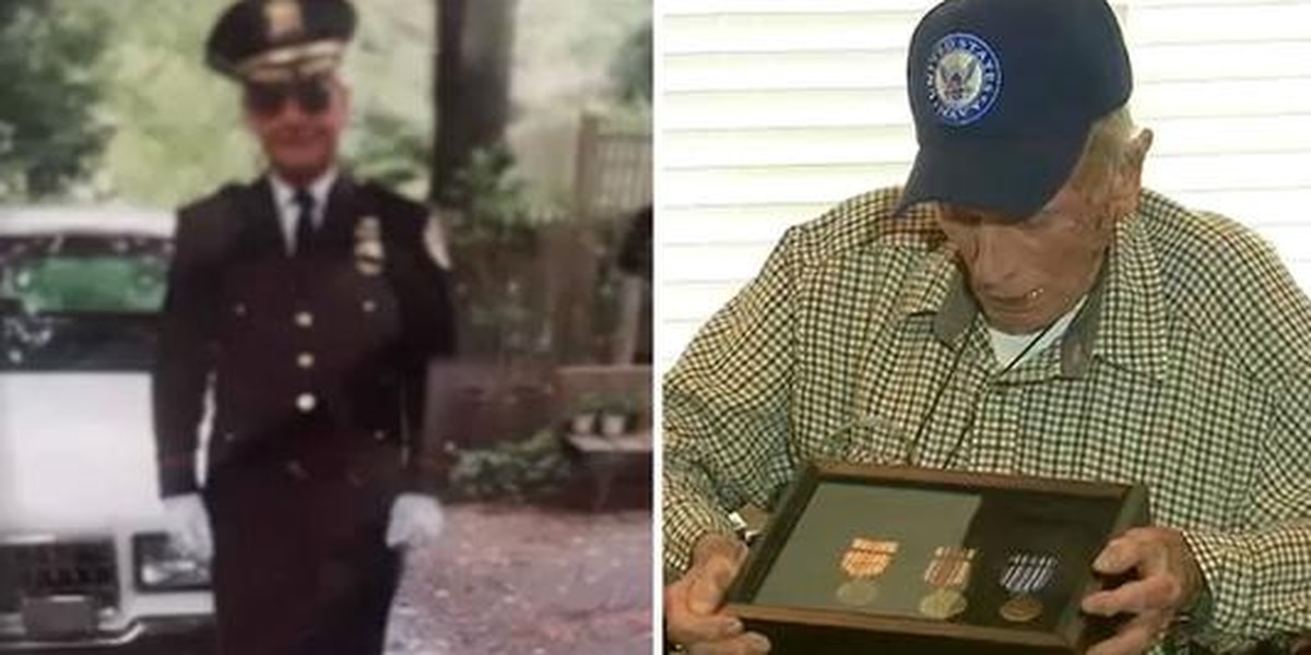 WWII vet gets medals 70 years later