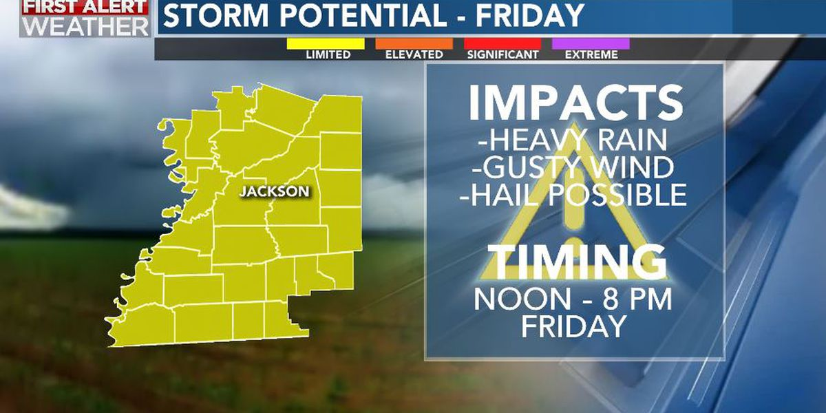 First Alert Forecast: rain, storms likely Friday