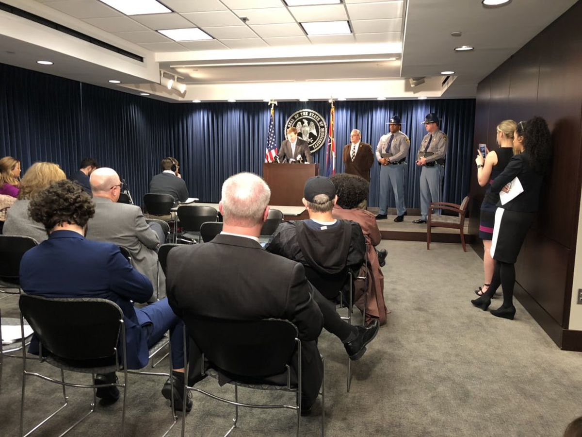 Gov. Reeves holds press conference concerning impact of Pearl River flooding, progress at MDOC