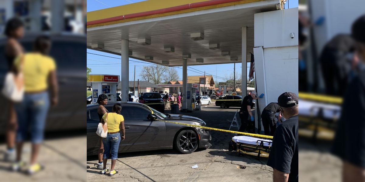2 arrested after shots fired, employee hit by car at gas station