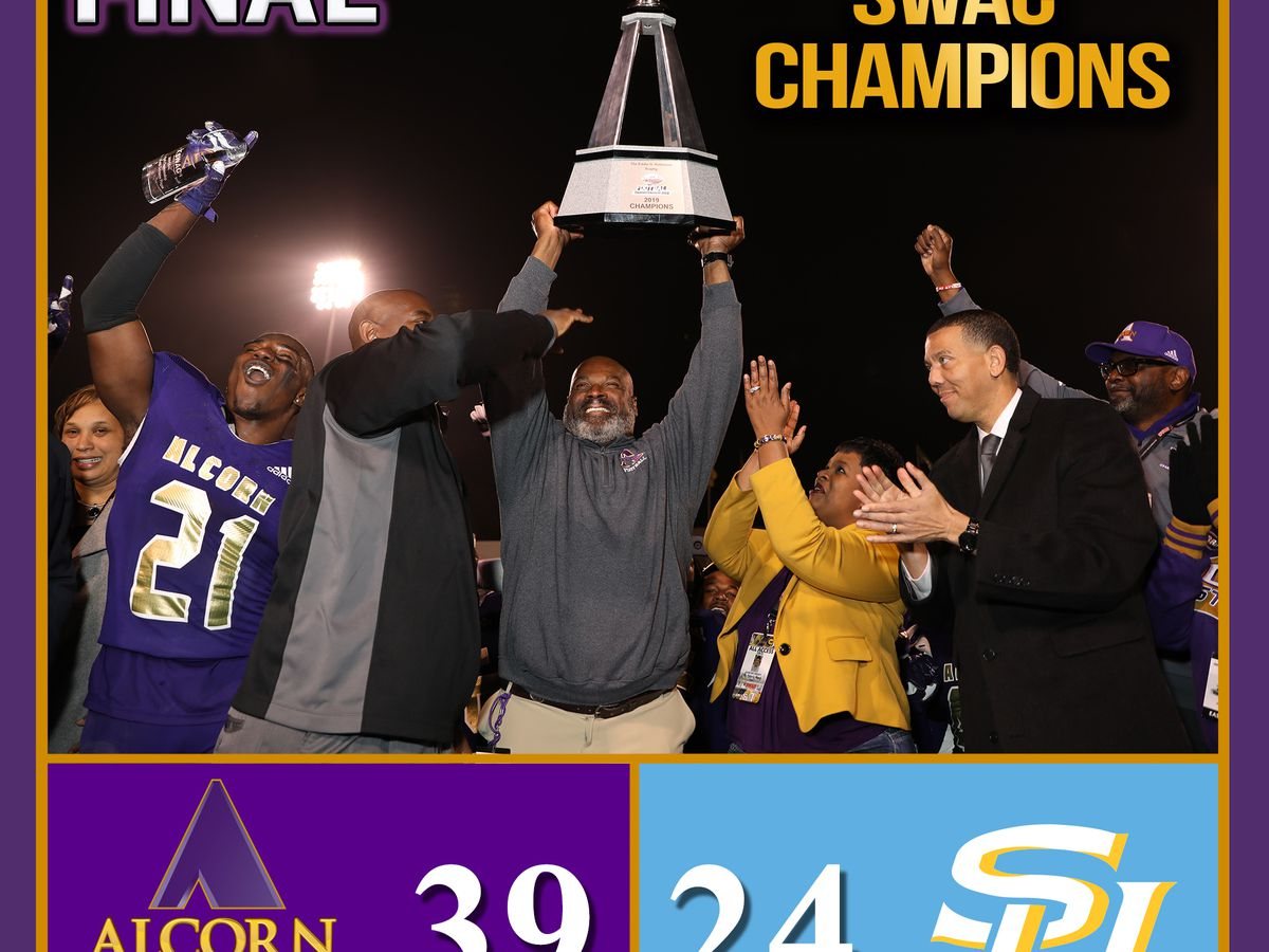 Alcorn State stops Southern 39-24, wins SWAC title