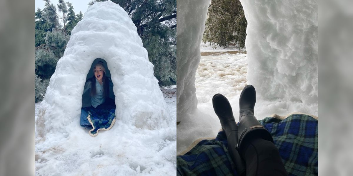 Madison high schooler builds 7-foot igloo