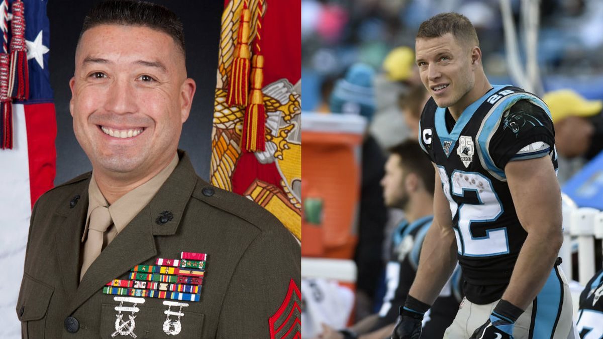 Panthers' Christian McCaffrey giving Super Bowl tickets to decorated Marine