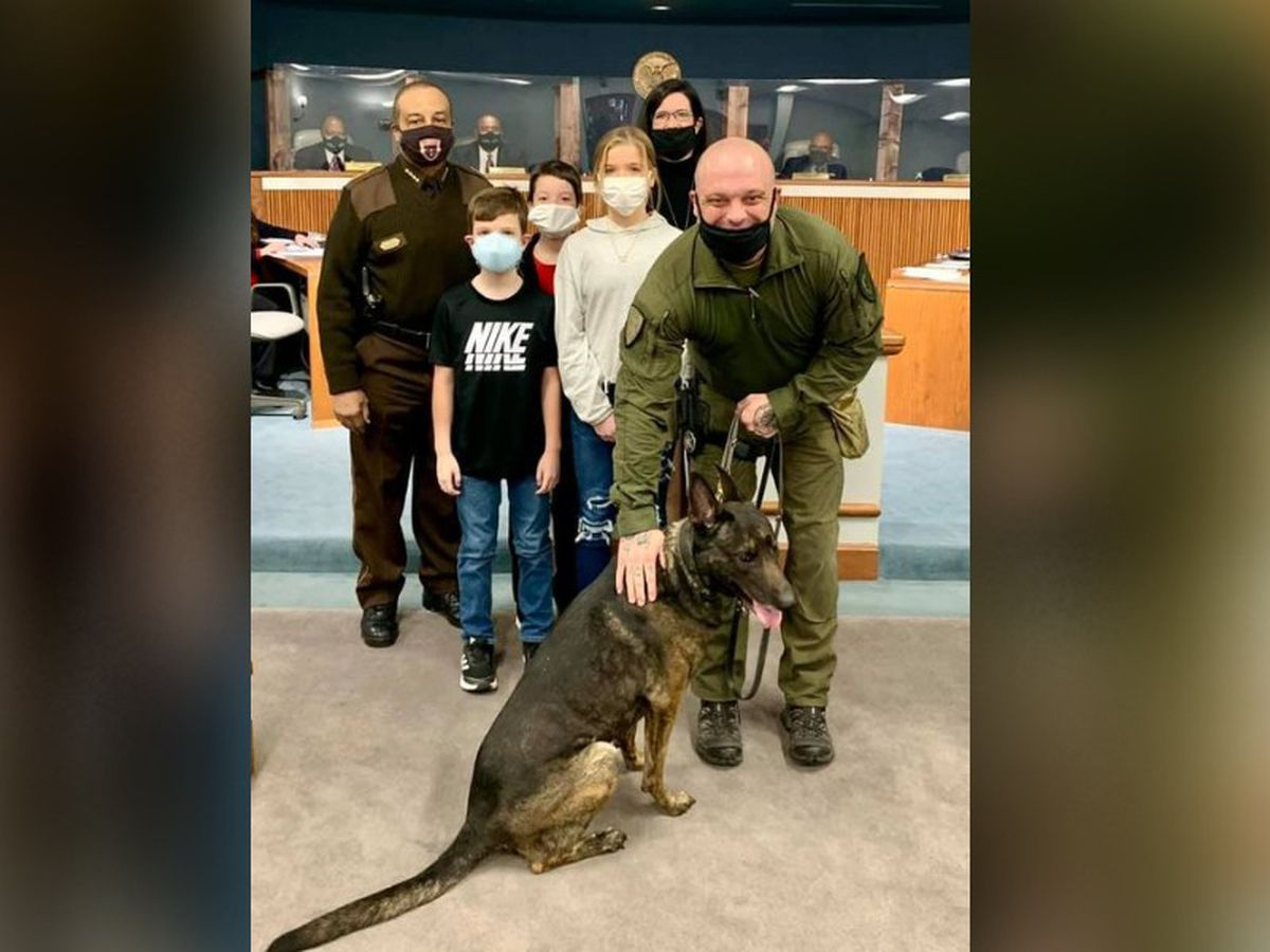 Explosive detection K-9 'Dino' retires from Hinds Co. Sheriff's Office