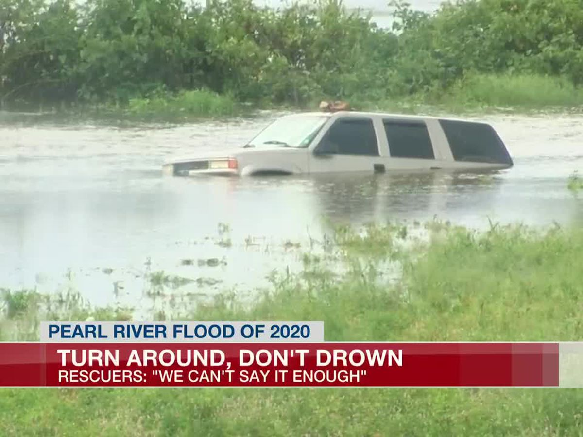 Rankin Co. officials stress 'turn around, don't drown' as flood waters cover streets