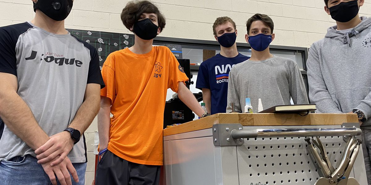 Gulfport High Robotics team builds device for a Morgan Freeman film