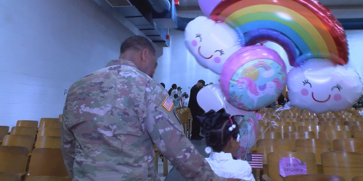 Army dad surprises daughter at school after being deployed for over a year