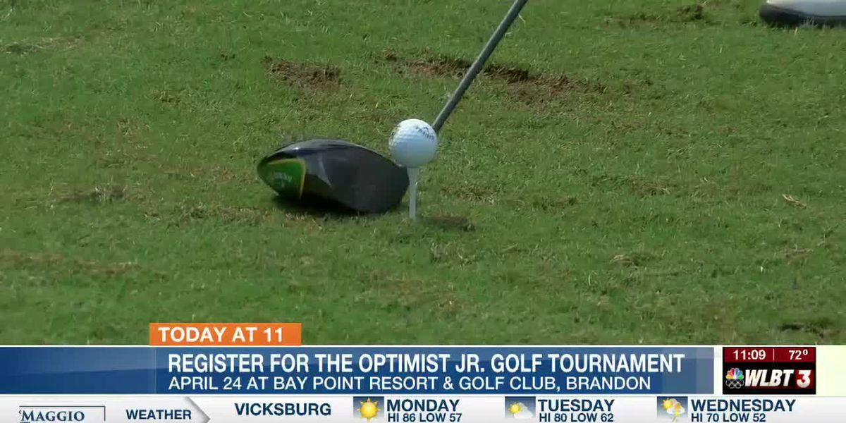 Sign up for the Optimist Club Junior Golf Tournament