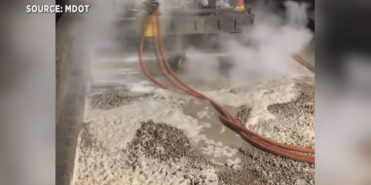 Hydro-blasting tool used in I-20 reconstruction project