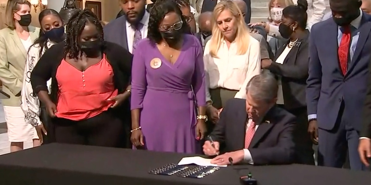 Georgia Gov. Kemp signs repeal of 1863 citizen's arrest law